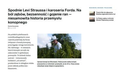 Historia przemysłu konopnego i foto z naszego pola!