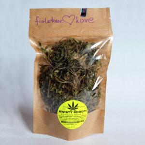 Susz konopny do zaparzania herbatka z konopi fioletowe love
